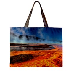 Fire River Zipper Tiny Tote Bags by trendistuff