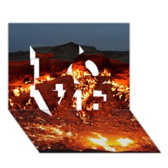 Door To Hell Love 3d Greeting Card (7x5)  by trendistuff