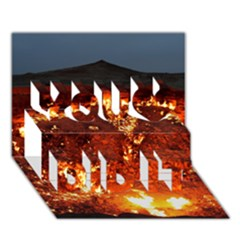 Door To Hell You Did It 3d Greeting Card (7x5)