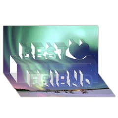 Aurora Borealis Best Friends 3d Greeting Card (8x4)  by trendistuff