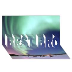 Aurora Borealis Best Bro 3d Greeting Card (8x4)