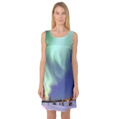 Aurora Borealis Sleeveless Satin Nightdresses by trendistuff