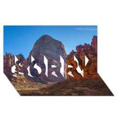 Zion National Park Sorry 3d Greeting Card (8x4)  by trendistuff