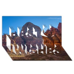 Zion National Park Best Wish 3d Greeting Card (8x4)  by trendistuff