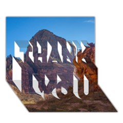 Zion National Park Thank You 3d Greeting Card (7x5)  by trendistuff