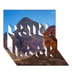 Zion National Park You Rock 3d Greeting Card (7x5)  by trendistuff