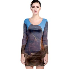 Zion National Park Long Sleeve Bodycon Dresses by trendistuff