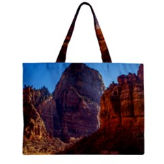 Zion National Park Zipper Tiny Tote Bags by trendistuff