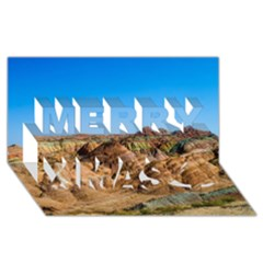Zhangye Danxia Merry Xmas 3d Greeting Card (8x4)  by trendistuff