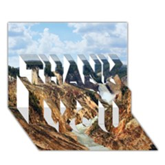 Yellowstone Gc Thank You 3d Greeting Card (7x5)  by trendistuff