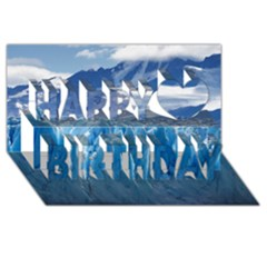Upsala Glacier Happy Birthday 3d Greeting Card (8x4)  by trendistuff