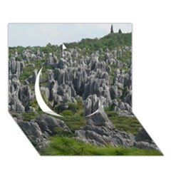 Stone Forest 1 Circle 3d Greeting Card (7x5)  by trendistuff