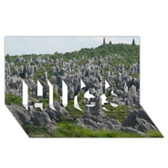 Stone Forest 1 Hugs 3d Greeting Card (8x4)  by trendistuff