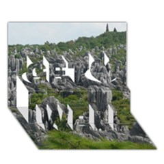 Stone Forest 1 Get Well 3d Greeting Card (7x5)  by trendistuff