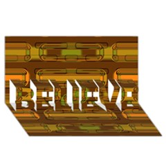 Modern Pattern Factory 01b Believe 3d Greeting Card (8x4)  by MoreColorsinLife