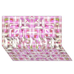 Modern Pattern Factory 01 Engaged 3d Greeting Card (8x4)  by MoreColorsinLife