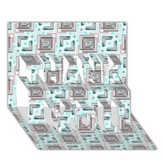 Modern Pattern Factory 04b Thank You 3d Greeting Card (7x5)  by MoreColorsinLife