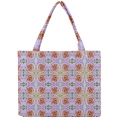 Pink Light Blue Pastel Flowers Tiny Tote Bags