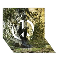Mountain Path Peace Sign 3d Greeting Card (7x5)  by trendistuff