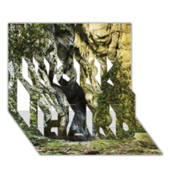 Mountain Path Work Hard 3d Greeting Card (7x5)  by trendistuff