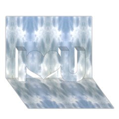 Ice Crystals Abstract Pattern I Love You 3d Greeting Card (7x5)  by Costasonlineshop