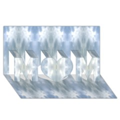 Ice Crystals Abstract Pattern Mom 3d Greeting Card (8x4)  by Costasonlineshop