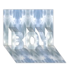 Ice Crystals Abstract Pattern Boy 3d Greeting Card (7x5) by Costasonlineshop