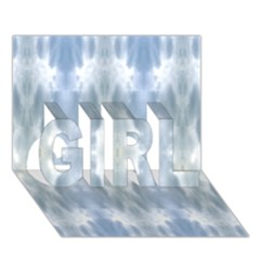 Ice Crystals Abstract Pattern Girl 3d Greeting Card (7x5)  by Costasonlineshop