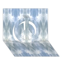 Ice Crystals Abstract Pattern Peace Sign 3d Greeting Card (7x5)  by Costasonlineshop