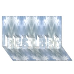 Ice Crystals Abstract Pattern Best Bro 3d Greeting Card (8x4)  by Costasonlineshop