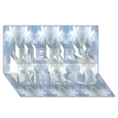 Ice Crystals Abstract Pattern Merry Xmas 3d Greeting Card (8x4)  by Costasonlineshop