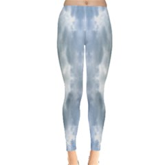 Ice Crystals Abstract Pattern Women s Leggings by Costasonlineshop