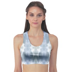 Ice Crystals Abstract Pattern Sports Bra by Costasonlineshop