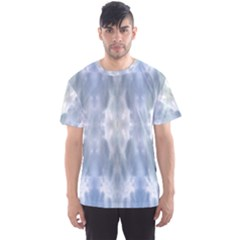 Ice Crystals Abstract Pattern Men s Sport Mesh Tees by Costasonlineshop