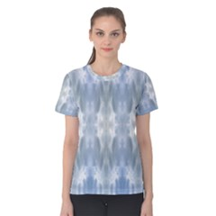 Ice Crystals Abstract Pattern Women s Cotton Tee by Costasonlineshop