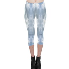 Ice Crystals Abstract Pattern Capri Leggings by Costasonlineshop