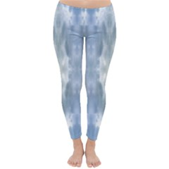 Ice Crystals Abstract Pattern Winter Leggings  by Costasonlineshop