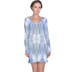 Ice Crystals Abstract Pattern Long Sleeve Nightdresses by Costasonlineshop