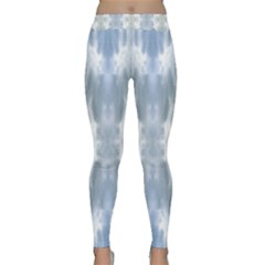 Ice Crystals Abstract Pattern Yoga Leggings by Costasonlineshop