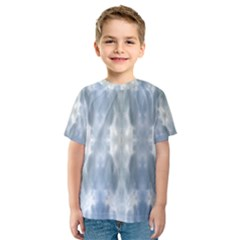 Ice Crystals Abstract Pattern Kid s Sport Mesh Tees by Costasonlineshop