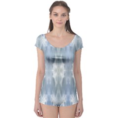 Ice Crystals Abstract Pattern Short Sleeve Leotard by Costasonlineshop