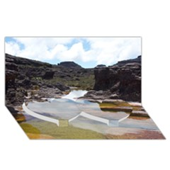 Mount Roraima 1 Twin Heart Bottom 3d Greeting Card (8x4)  by trendistuff