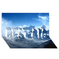 Kangchenjunga Best Sis 3d Greeting Card (8x4)  by trendistuff