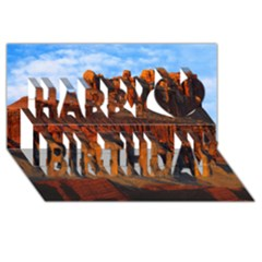 Grand Canyon 3 Happy Birthday 3d Greeting Card (8x4)  by trendistuff