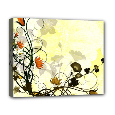Wonderful Flowers With Leaves On Soft Background Deluxe Canvas 20  X 16   by FantasyWorld7