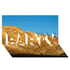 Death Valley Party 3d Greeting Card (8x4)  by trendistuff