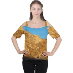 Death Valley Women s Cutout Shoulder Tee by trendistuff