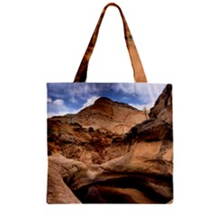CAPITAL REEFS Zipper Grocery Tote Bags by trendistuff
