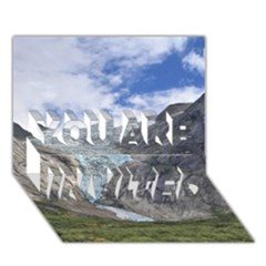 Briksdalsbreen You Are Invited 3d Greeting Card (7x5)  by trendistuff