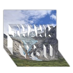 Briksdalsbreen Thank You 3d Greeting Card (7x5)  by trendistuff